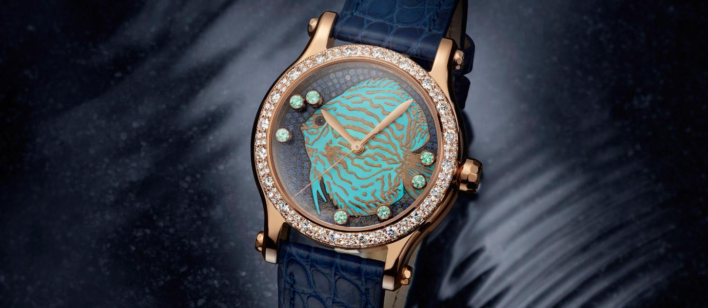 遨遊錶盤:Chopard Happy Fish腕錶