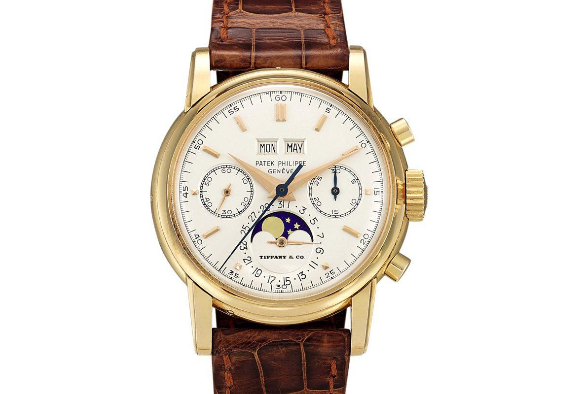 Patek Philippe Ref. 2499腕錶,成交價為23,520,000港幣。