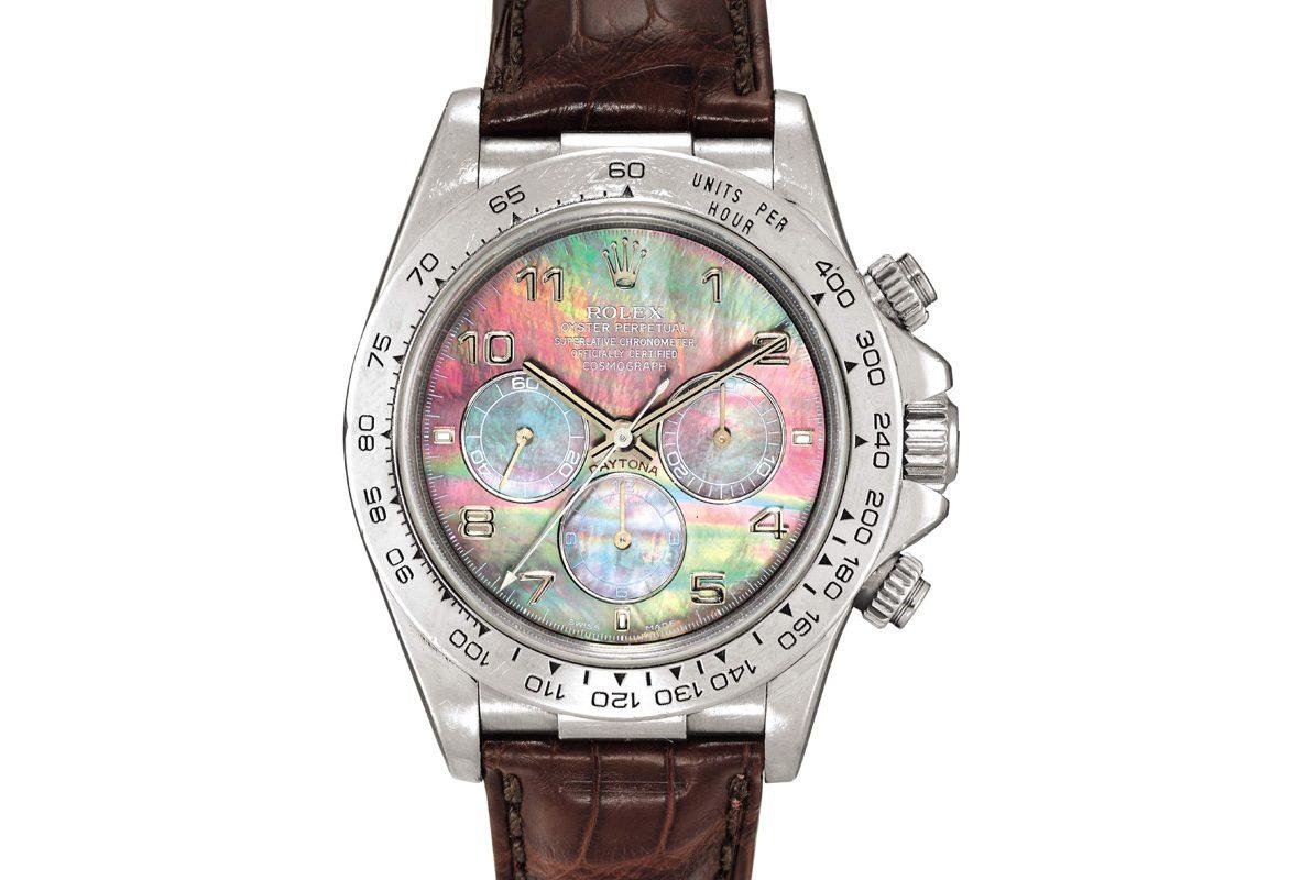 Rolex Ref. 16516 Cosmograph Daytona腕錶,成交價為6,840,000港幣。