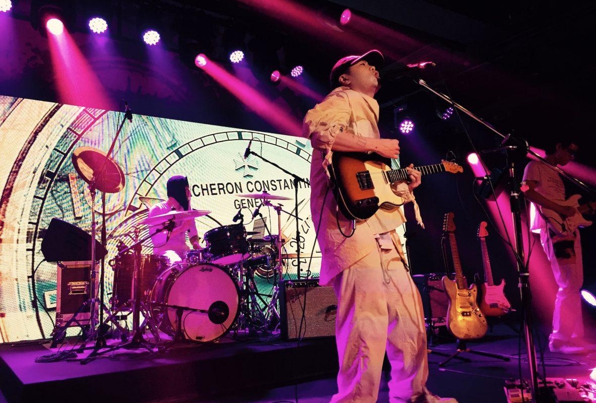 韓國獨立樂團hyukoh在FIFTYSIX亞洲發表會上演出。