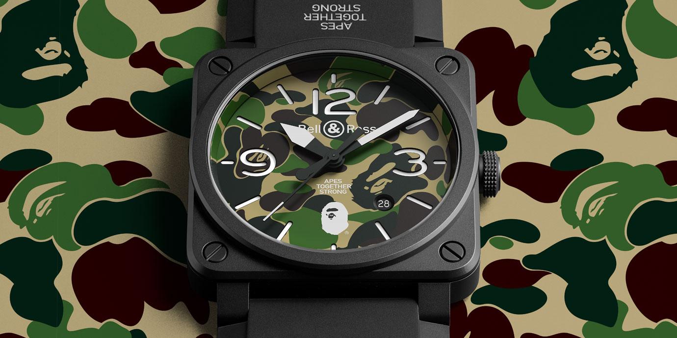 潮到出水:Bell & Ross X BAPE 限量腕錶