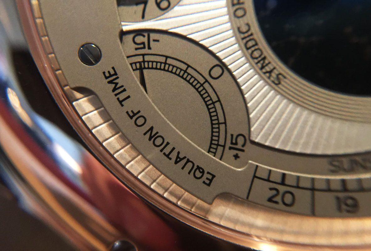 L.U.C All-In-One錶背上的時間等式功能。