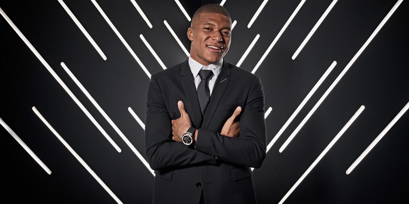 再創精彩時刻:世足新人王Mbappé成為Hublot品牌大使