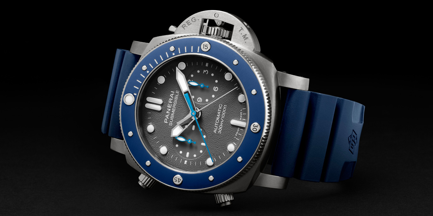 【Pre-SIHH 2019】藍色陶瓷圈魅力:Panerai Submersible Guillaume Néry計時碼錶