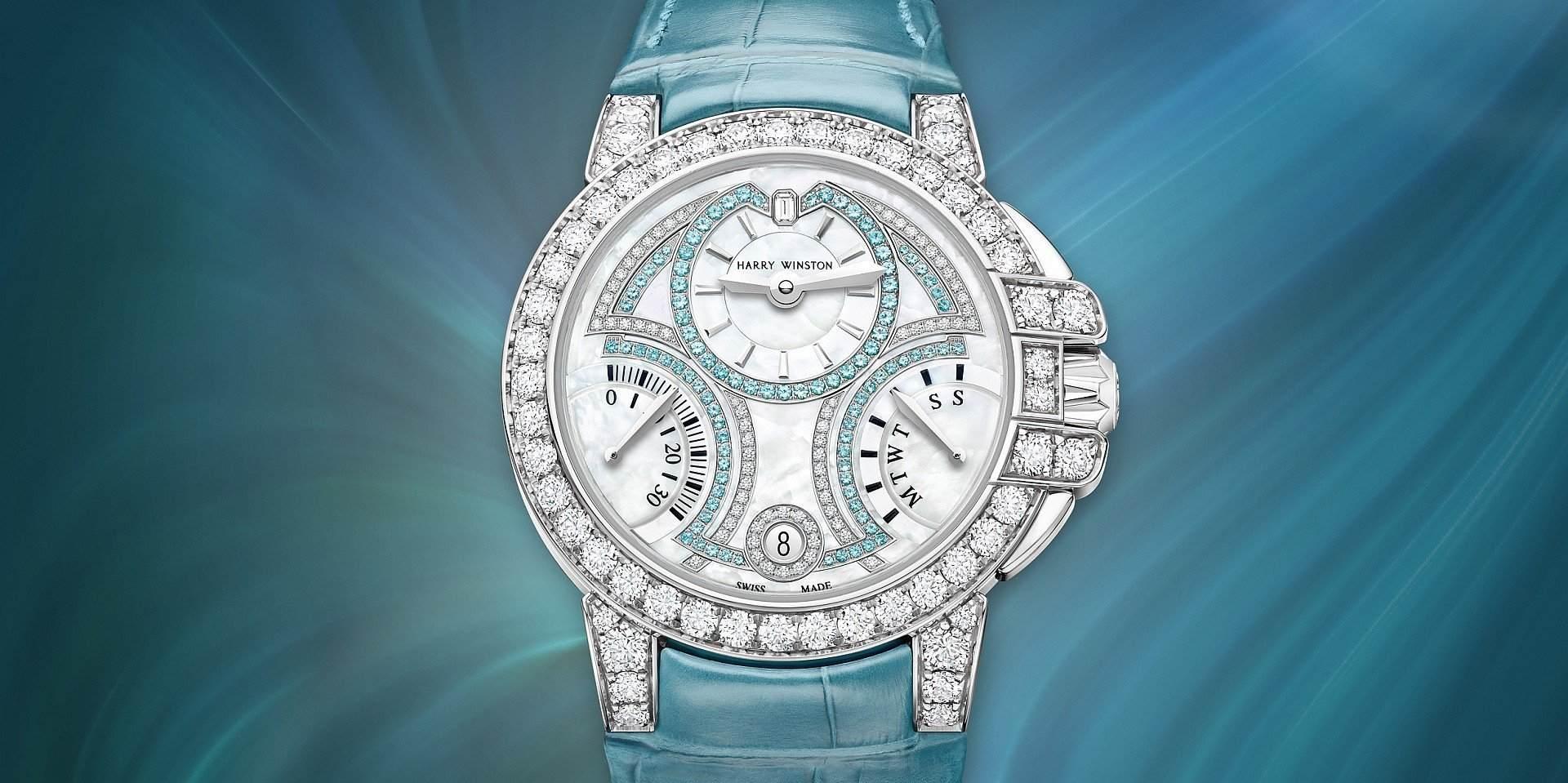 女王之姿:海瑞溫斯頓海洋Ocean系列20周年紀念36毫米雙逆跳限量版腕錶