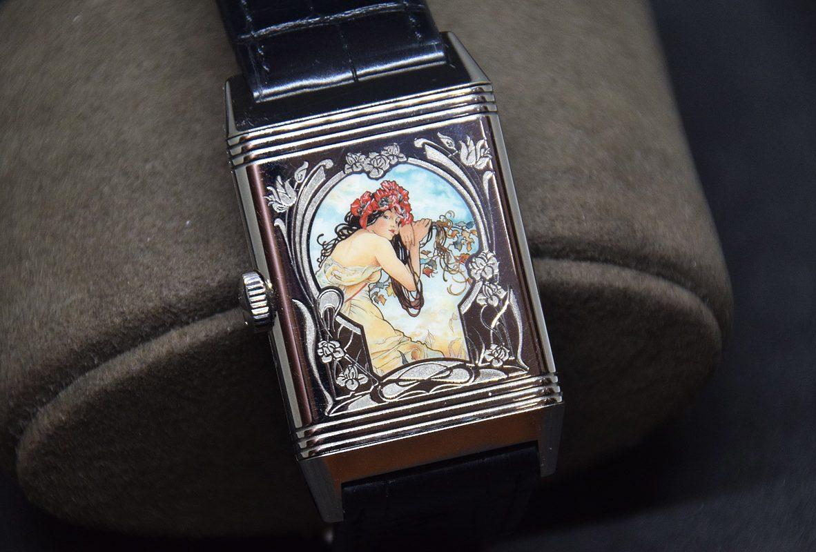 翻轉系列琺瑯腕錶 《四季- 夏》,白金錶殼,限量8只,參考售價NTD 3,080,000。