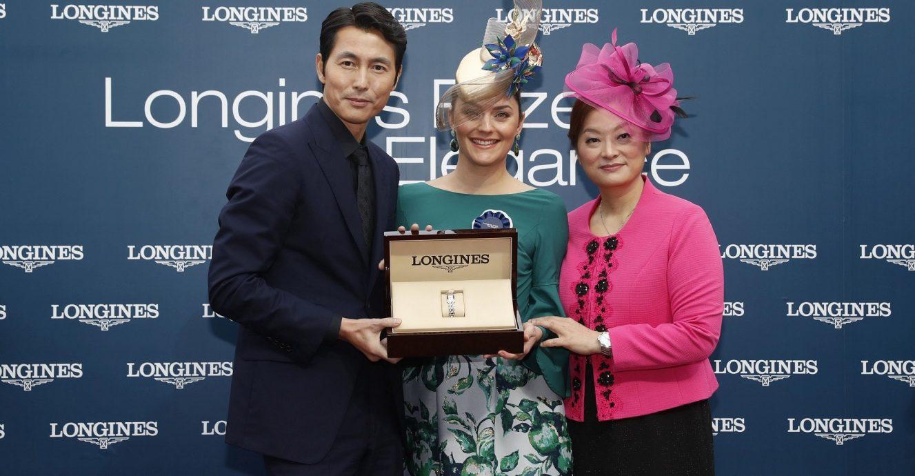 韓國影星、浪琴表優雅代言人鄭雨盛出席2018「浪琴表香港國際賽事」