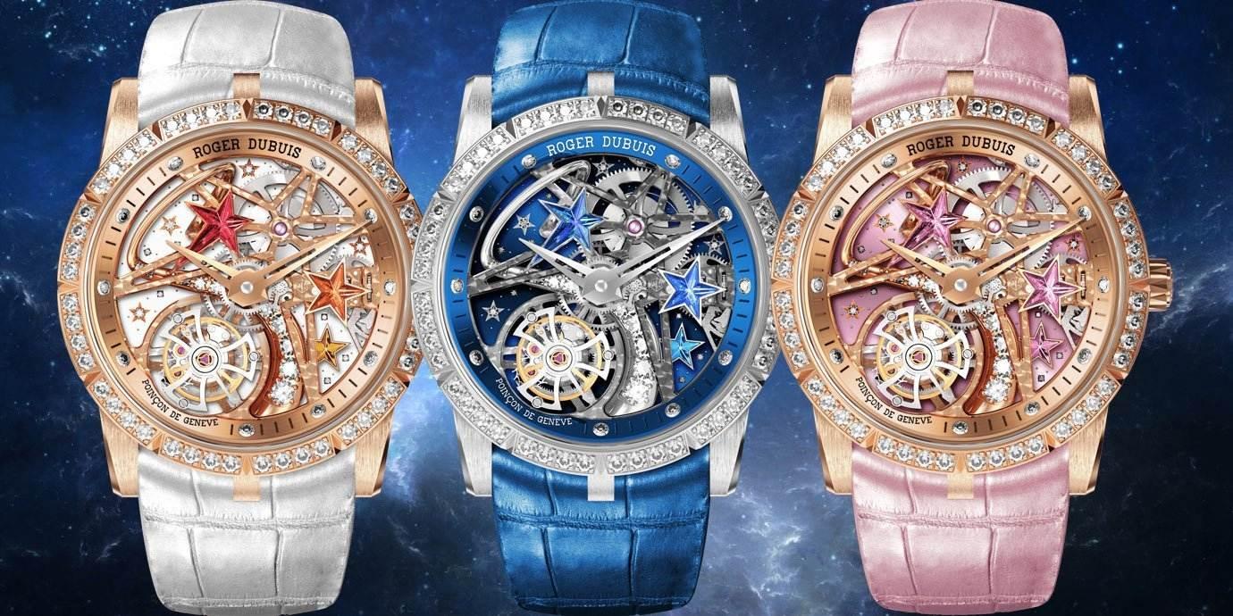 看,有流星! Roger Dubuis Excalibur系列鏤空飛行陀飛輪流星腕錶