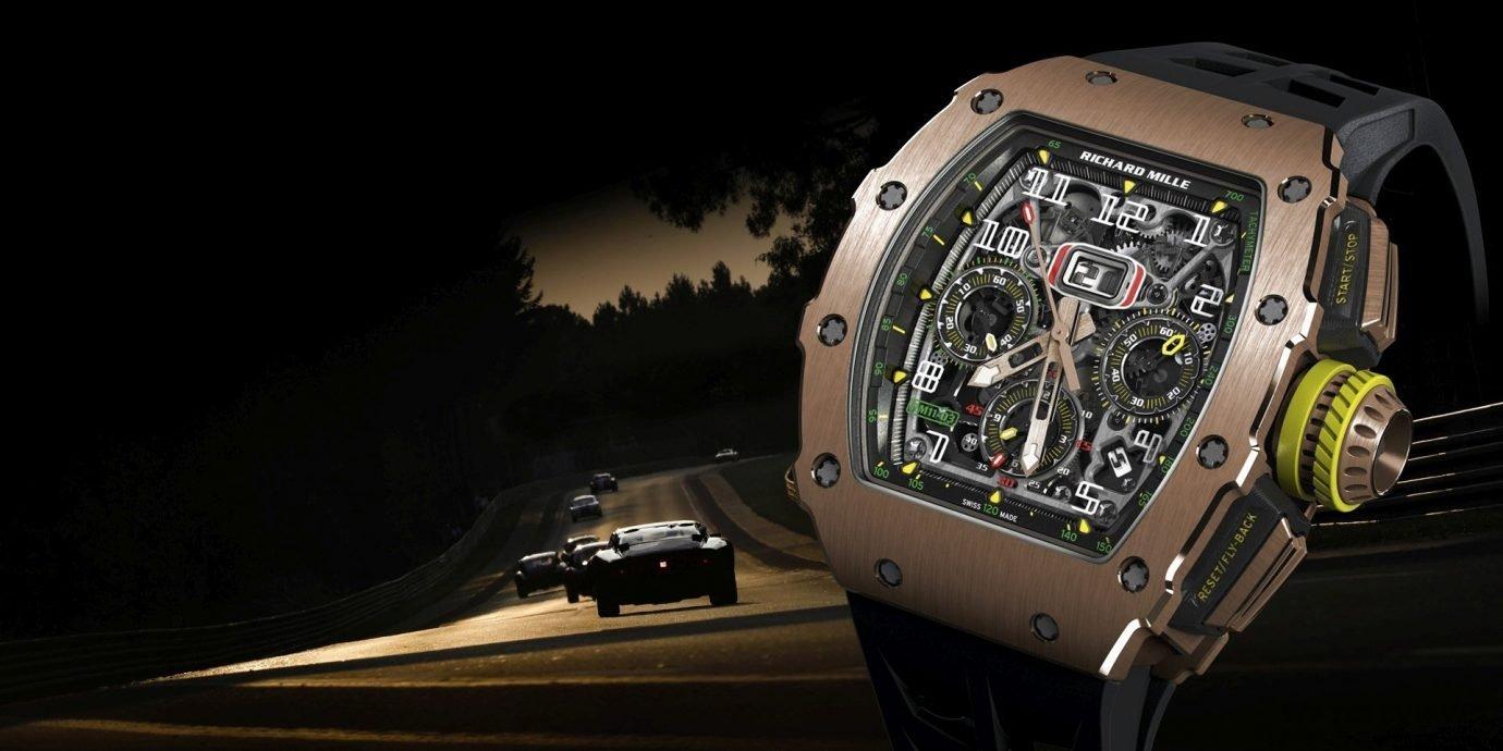 當代型男腕上最美的空力套件:RICHARD MILLE RM 11-03自動上鍊飛返計時碼錶
