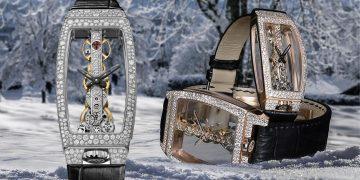 帶有雪花的金橋:Corum Golden Bridge鑲鑽系列腕錶