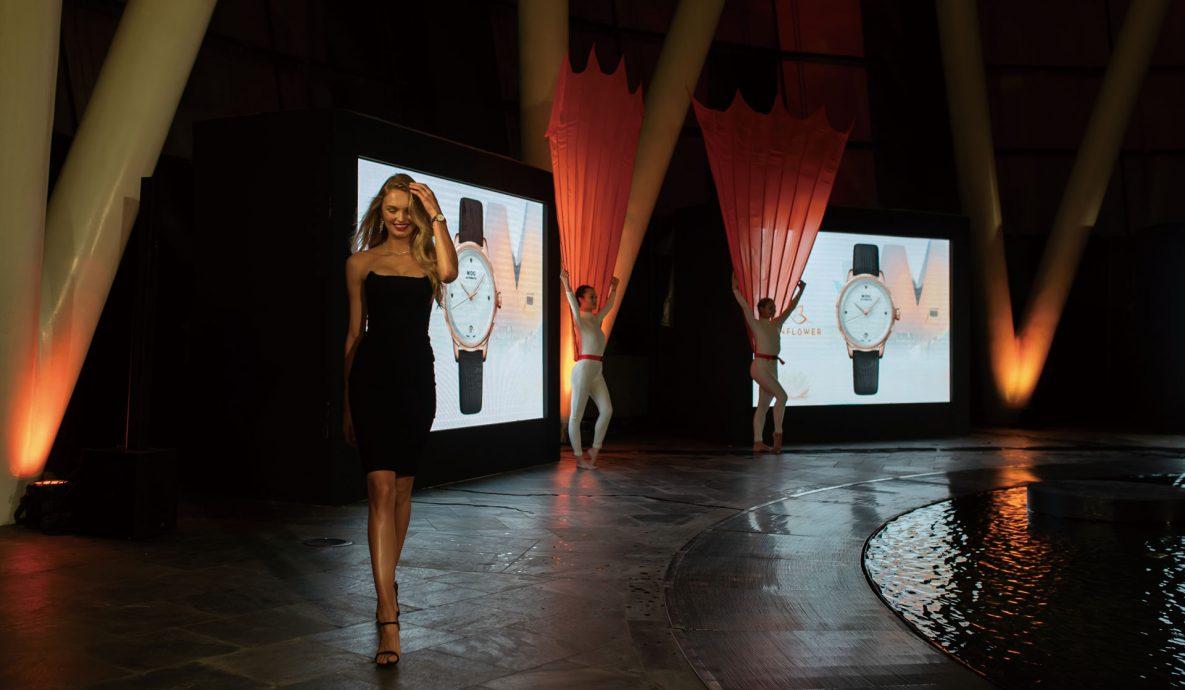 MIDO於新加坡發表全新Rainflower系列與Baroncelli II永恆系列晨夕鑲鑽女錶