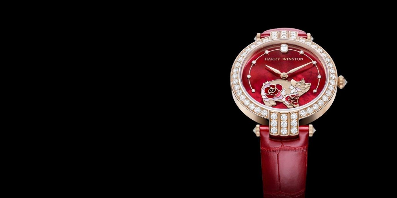 歡慶農曆豬年新年:海瑞溫斯頓Premier卓時系列36 毫米自動腕錶