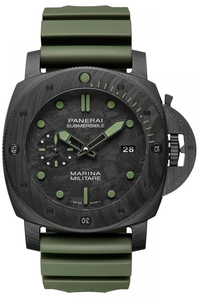 Submersible Marina Militare Carbotech —47mm,PAM00961,限量33只,NTD 1,258,000。