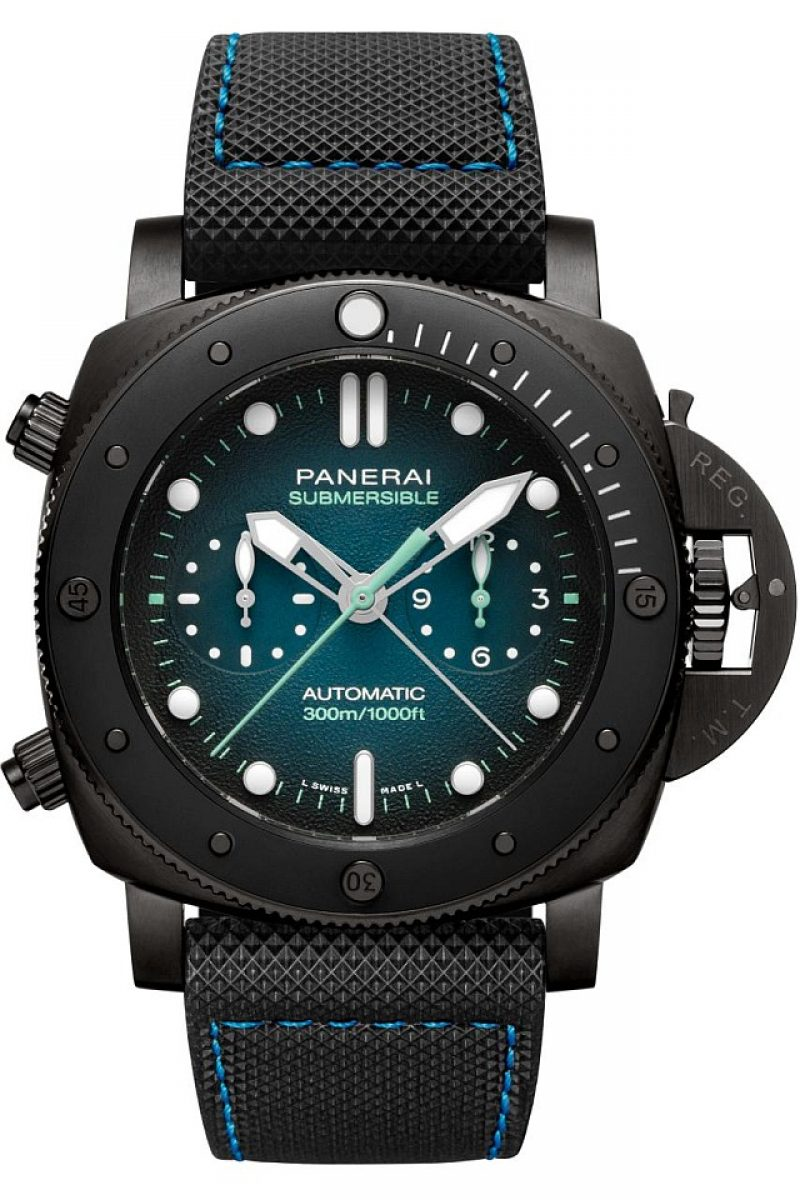 Submersible Chrono Guillaume Nery Edition—47mm,Titanium DLC,PAM00983,限量15只,NTD 1,222,000。
