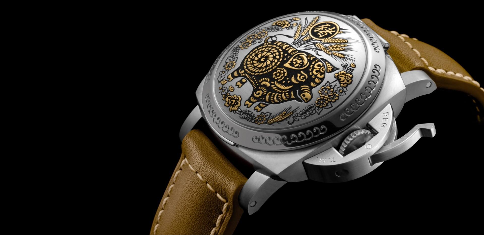 從中國古代天文傳統擷取靈感:Panerai Luminor Sealand – 44毫米中國生肖豬年腕錶