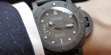 【SIHH 2019錶展報導】沛納海Submersible Marina Militare Carbotech™專業潛水碳纖維腕錶(附價格)