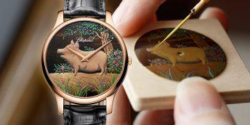 日式漆繪藝術:Chopard L.U.C XP Urushi金豬蒔繪腕錶