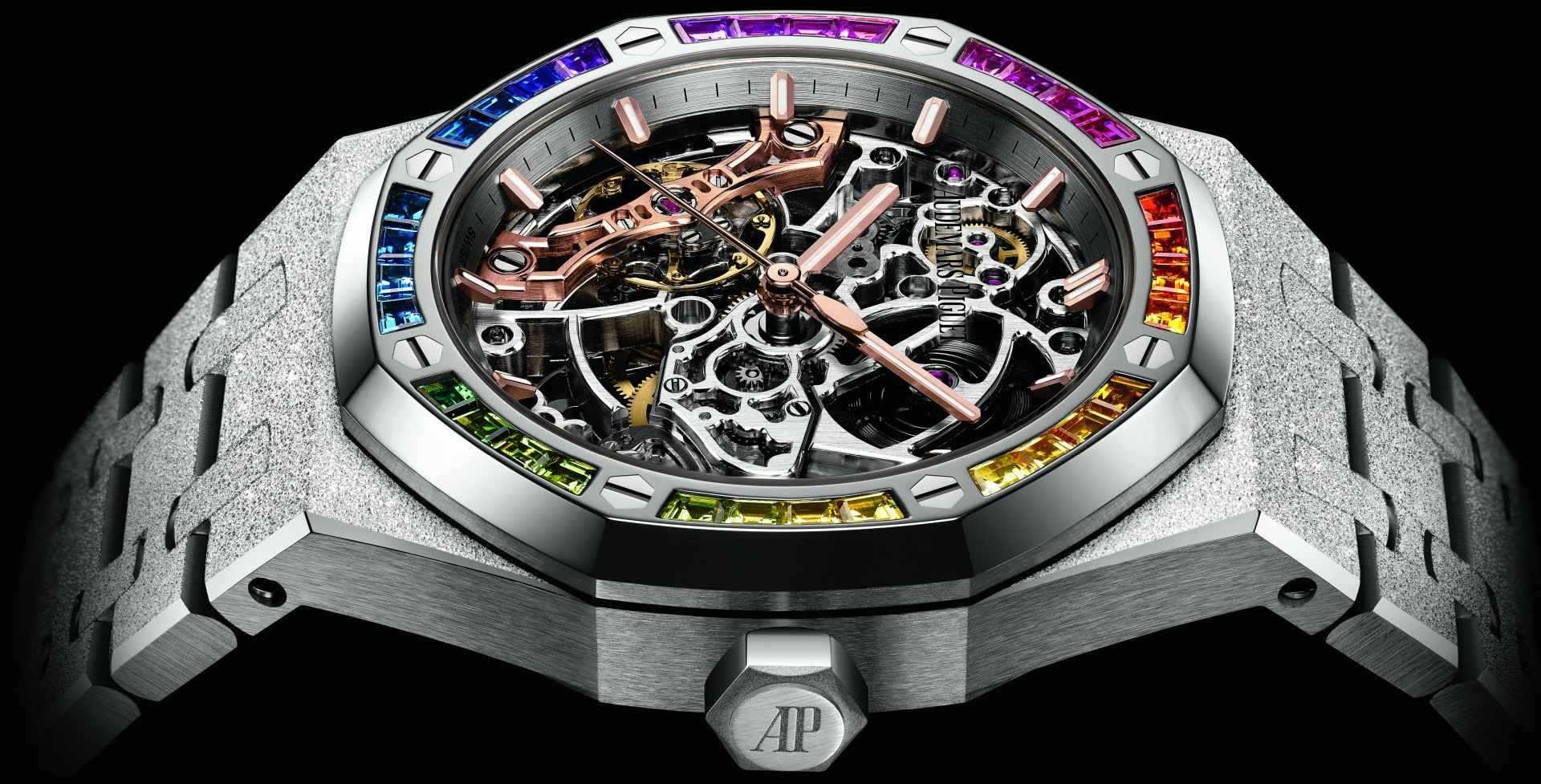 【SIHH 2019錶展報導】彩虹彩虹真美麗:愛彼推出多款高亮點寶石鑲嵌時計款式