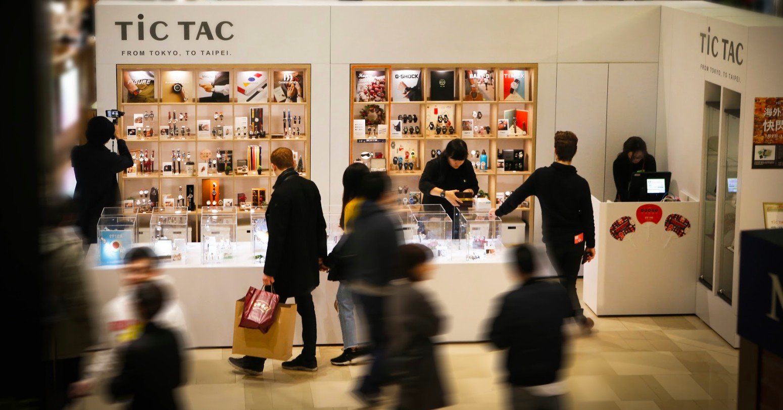 日本知名腕錶選物店TiCTAC於京站時尚廣場開設快閃店