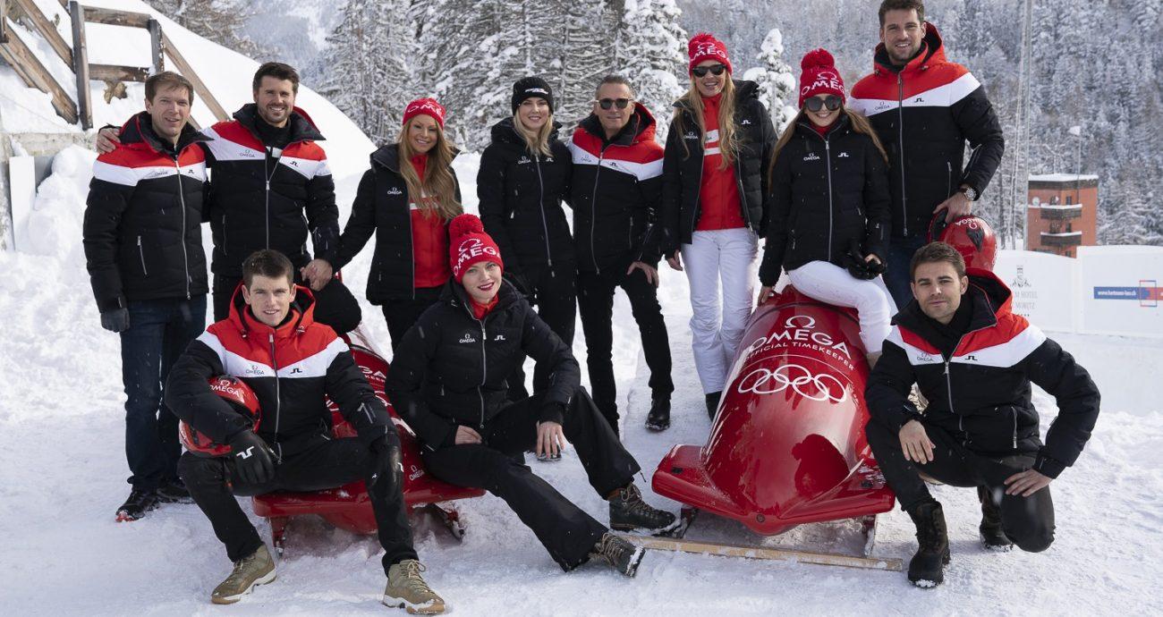 歐米茄於聖莫里茲舉辦星光雲集的雪車飆速活動