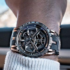 錦上添花: Roger Dubuis羅杰杜彼於日內瓦車展期間發表Excalibur Huracán系列新款時計及Excalibur Pirelli自動上鍊鏤空腕錶