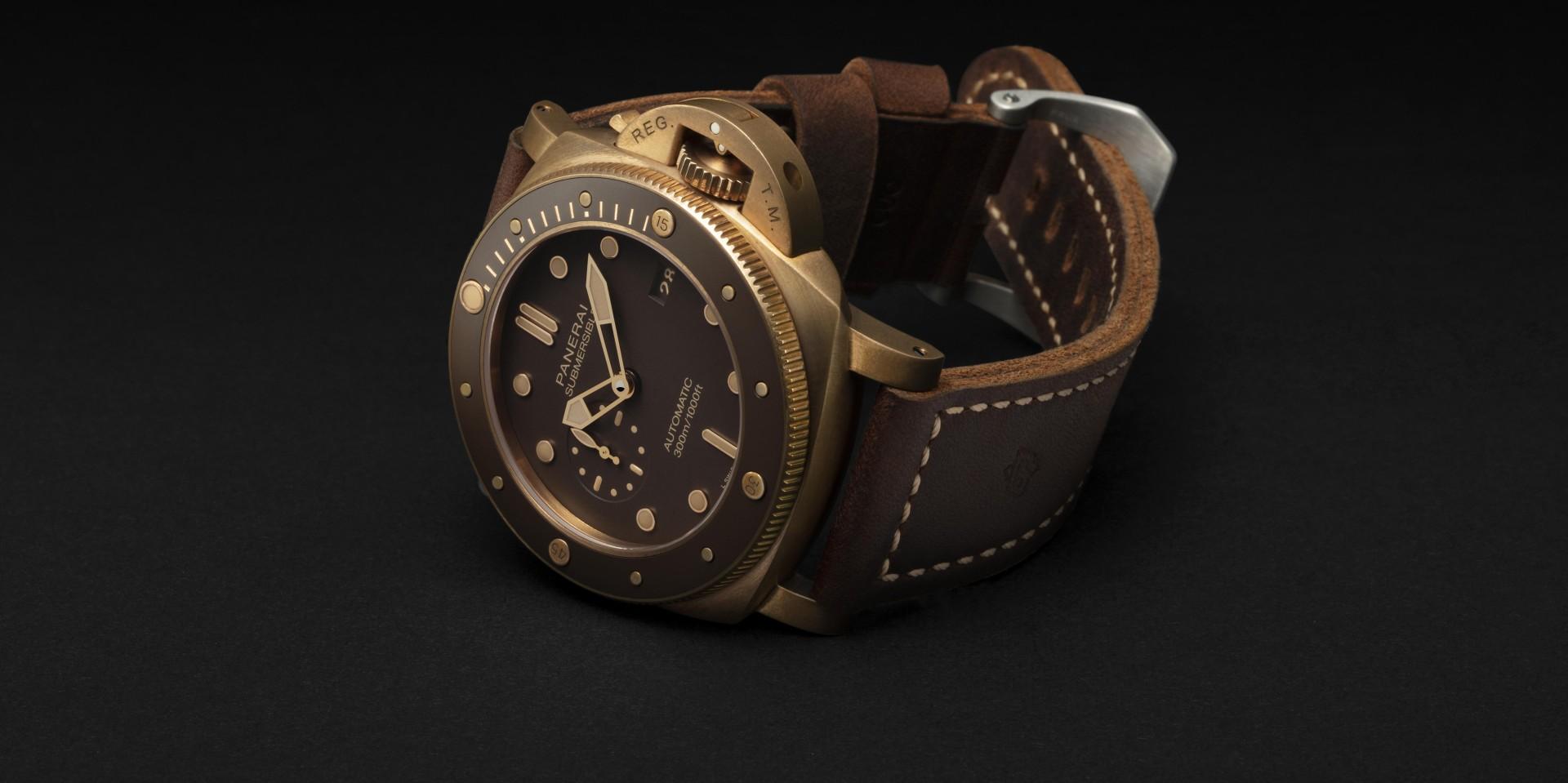 現代豪傑專屬:沛納海Submersible Bronzo專業潛水青銅腕錶