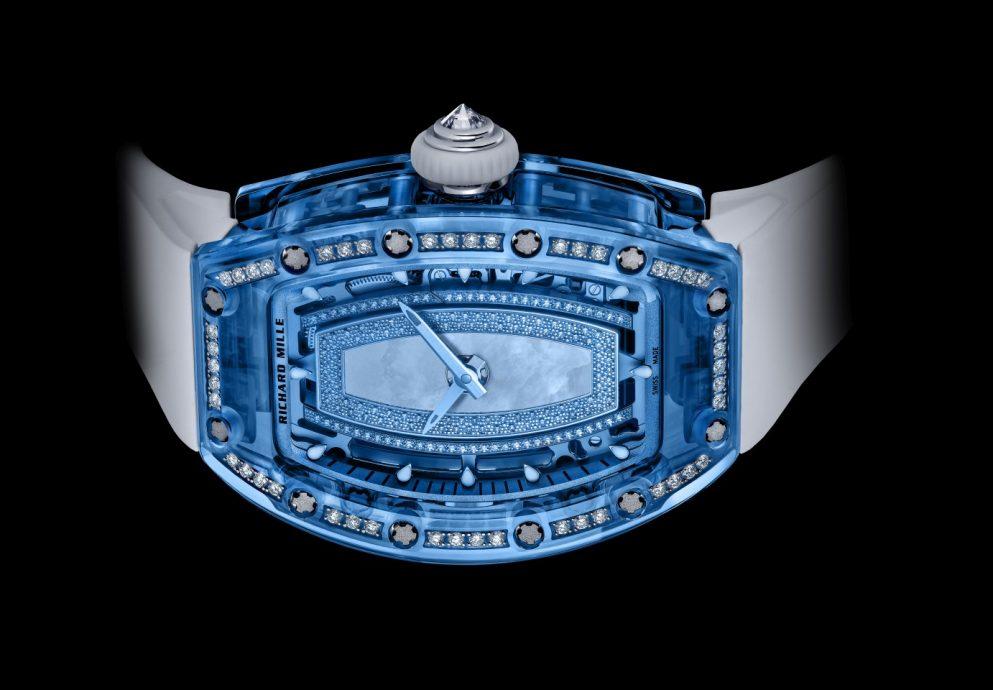 尖端技術+純粹美學:RICHARD MILLE RM 07-02 Gemset Colored Sapphire鑲鑽藍寶石水晶女士腕錶