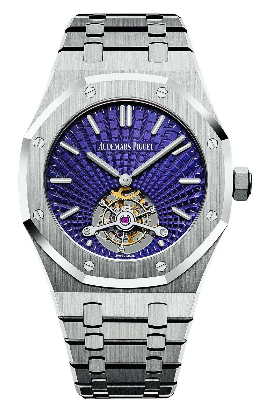 愛彼皇家橡樹超薄陀飛輪腕錶