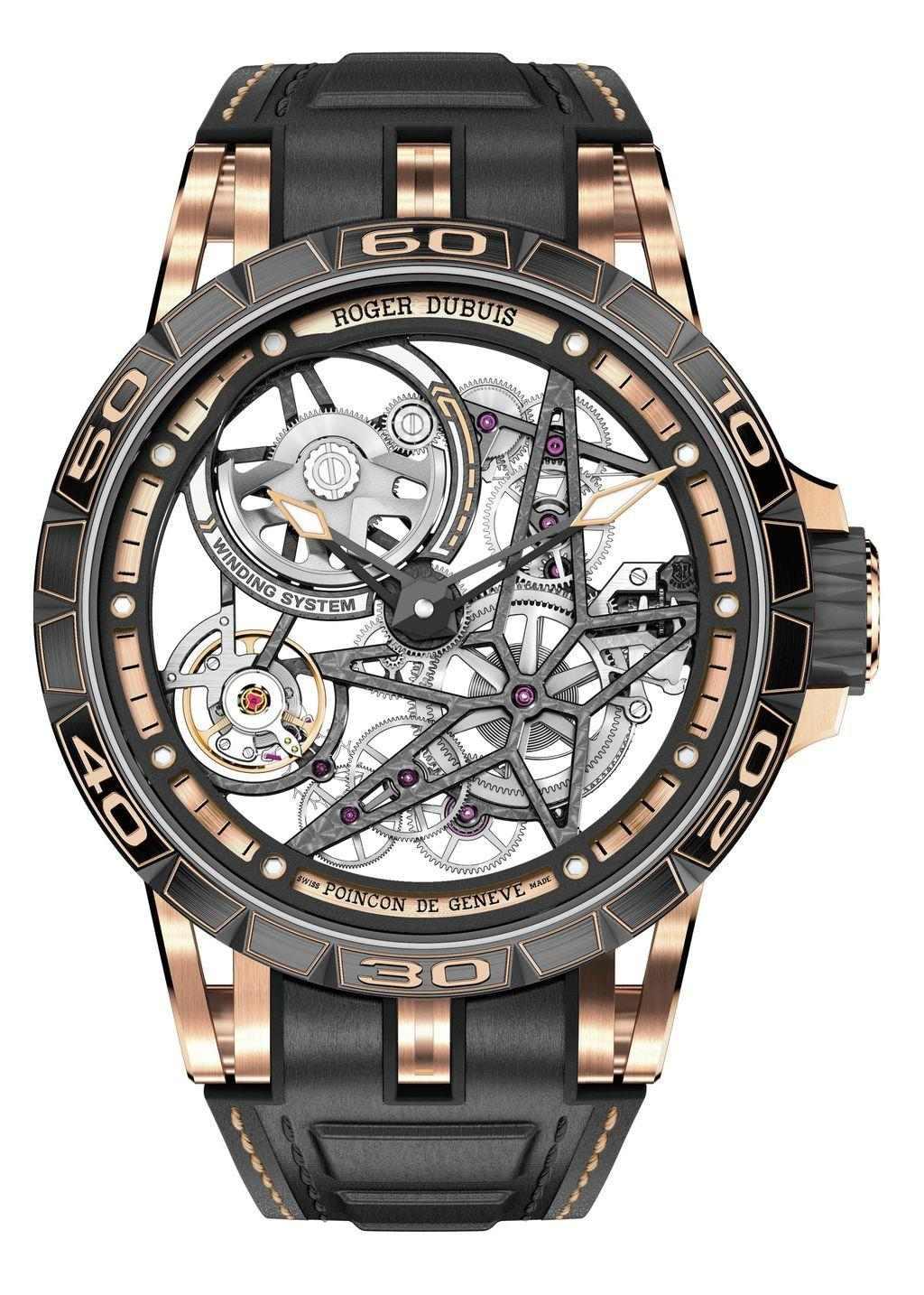 Roger Dubuis Excalibur Spider 鏤空自動上鍊腕錶