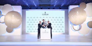 CORUM崑崙表全球品牌大使胡兵親臨2019新款發表會,見證全新矚目巨獻—Admiral AC-ONE 45鏤空自動陀飛輪腕錶