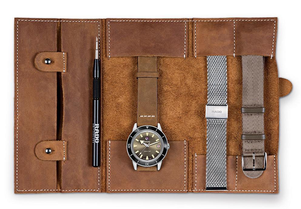 多樣錶帶搭配復古風格:Rado Captain Cook復刻限量自動腕錶