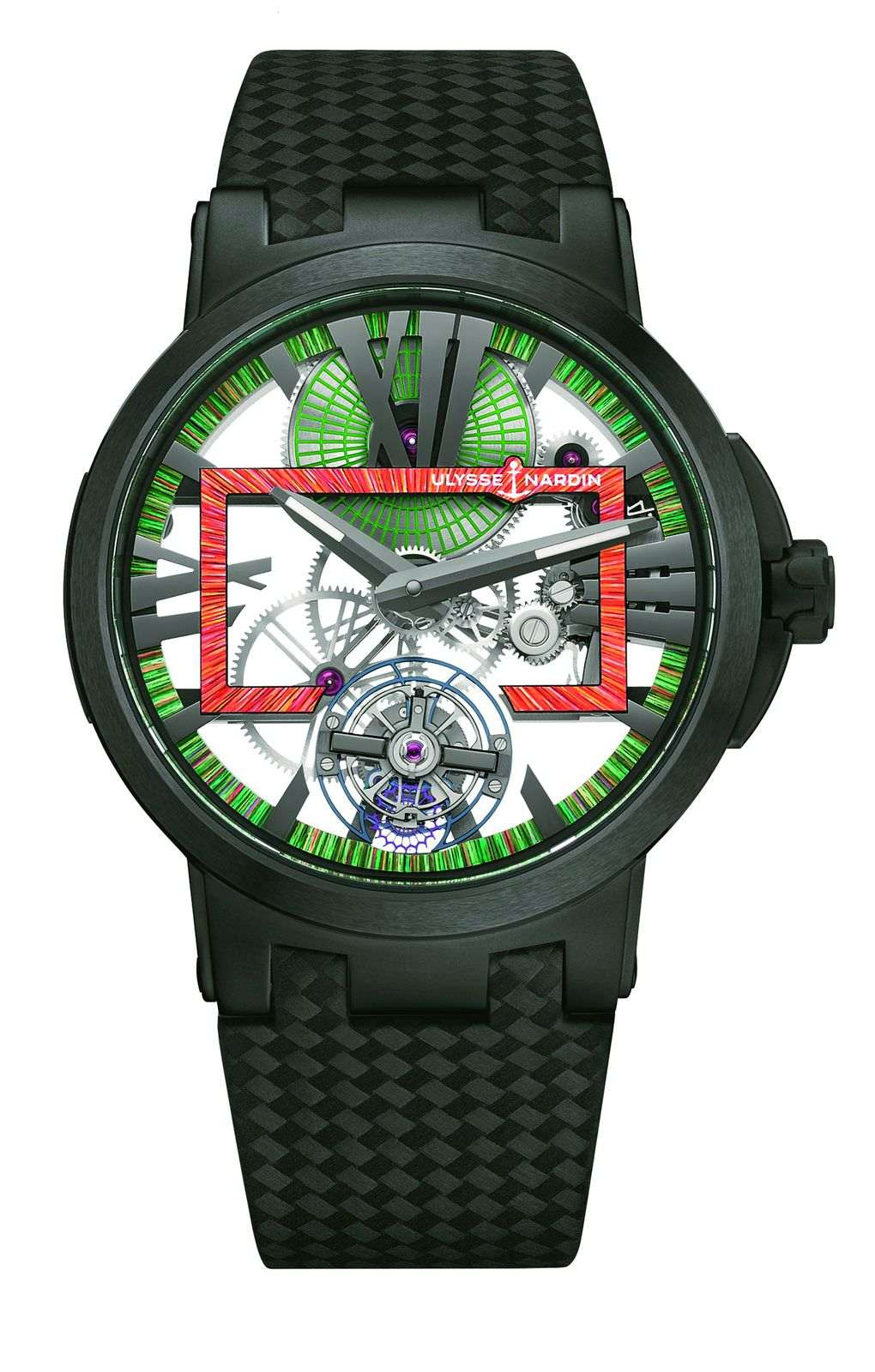 雅典 Executive Skeleton Tourbillon Hyperspace 經理人鏤空陀飛輪超時空腕錶