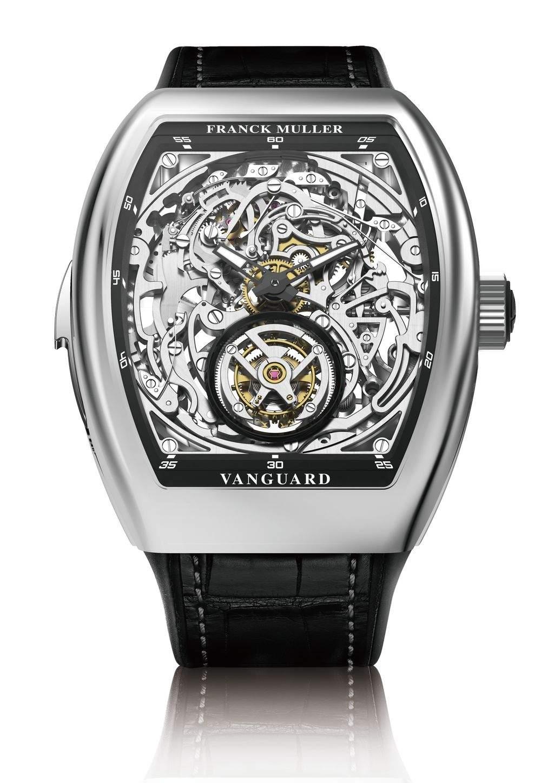 Franck Muller Vanguard 鏤空三問陀飛輪白金腕錶