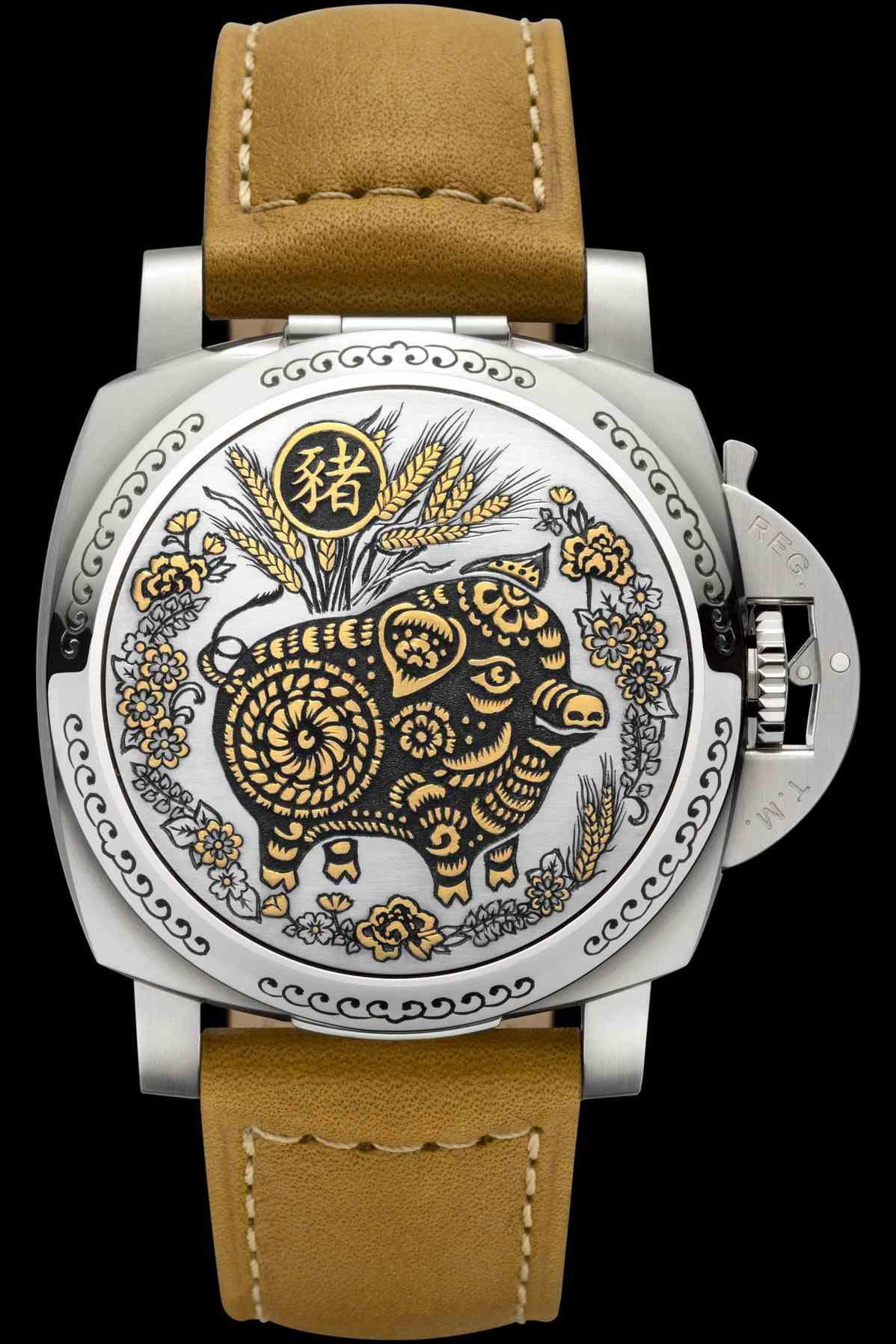 沛納海 Luminor Sealand 中國生肖豬年特別版腕錶─ 44毫米 PAM859