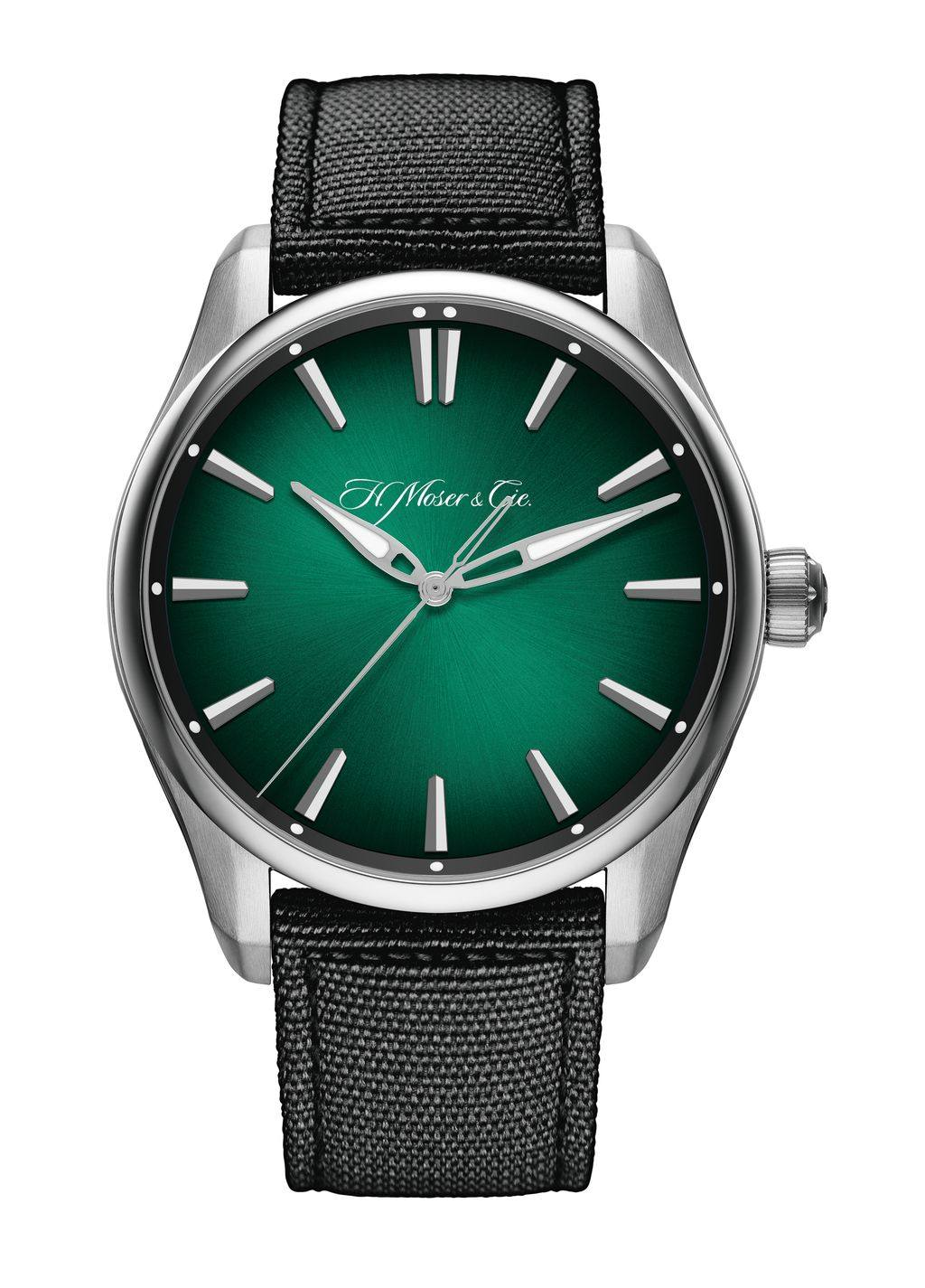 H. Moser Pioneer 開拓者大三針宇宙綠腕錶