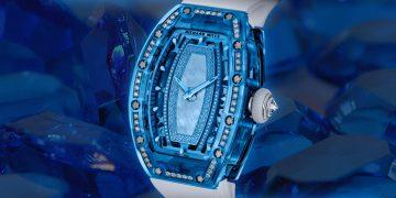 奢華創意:RICHARD MILLE RM 07-02鑲鑽藍寶石女士腕錶