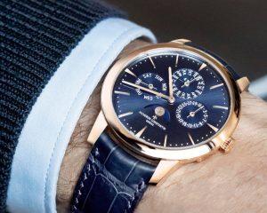 午夜藍新面登場:江詩丹頓Patrimony系列超薄萬年曆腕錶