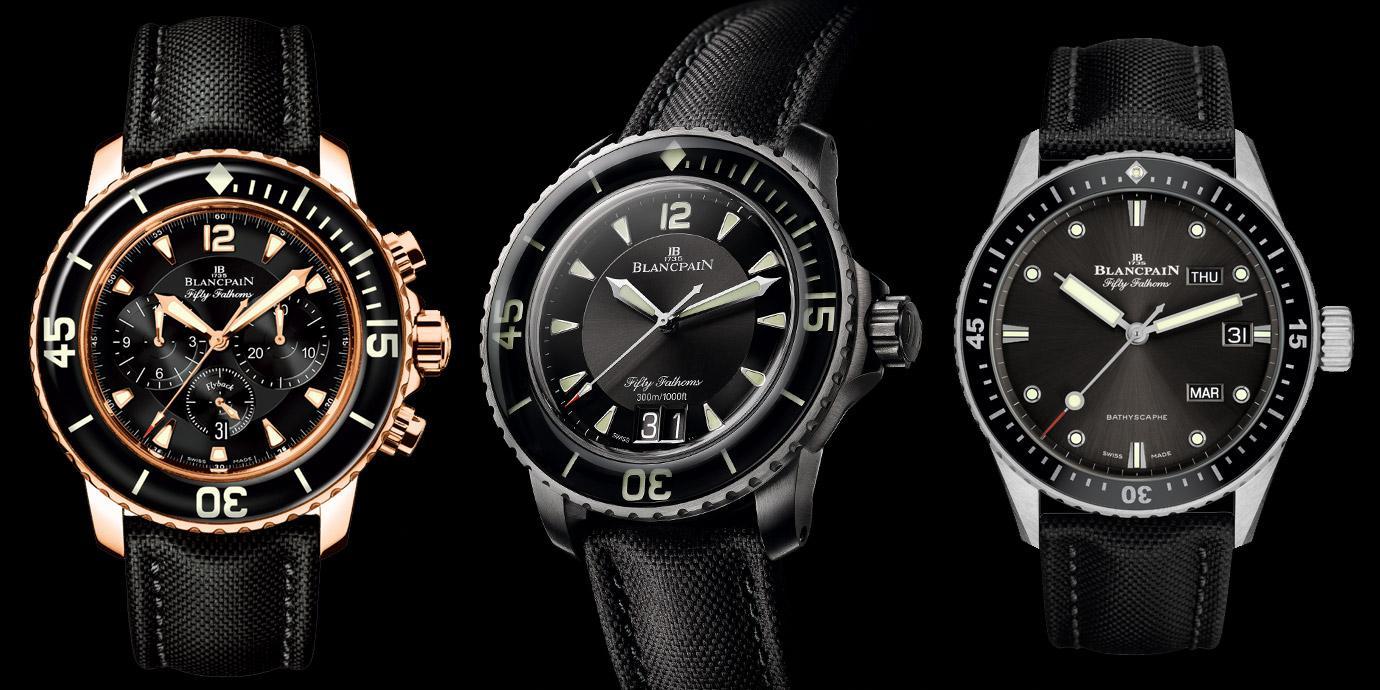 深海王者:Blancpain五十噚系列潛水錶