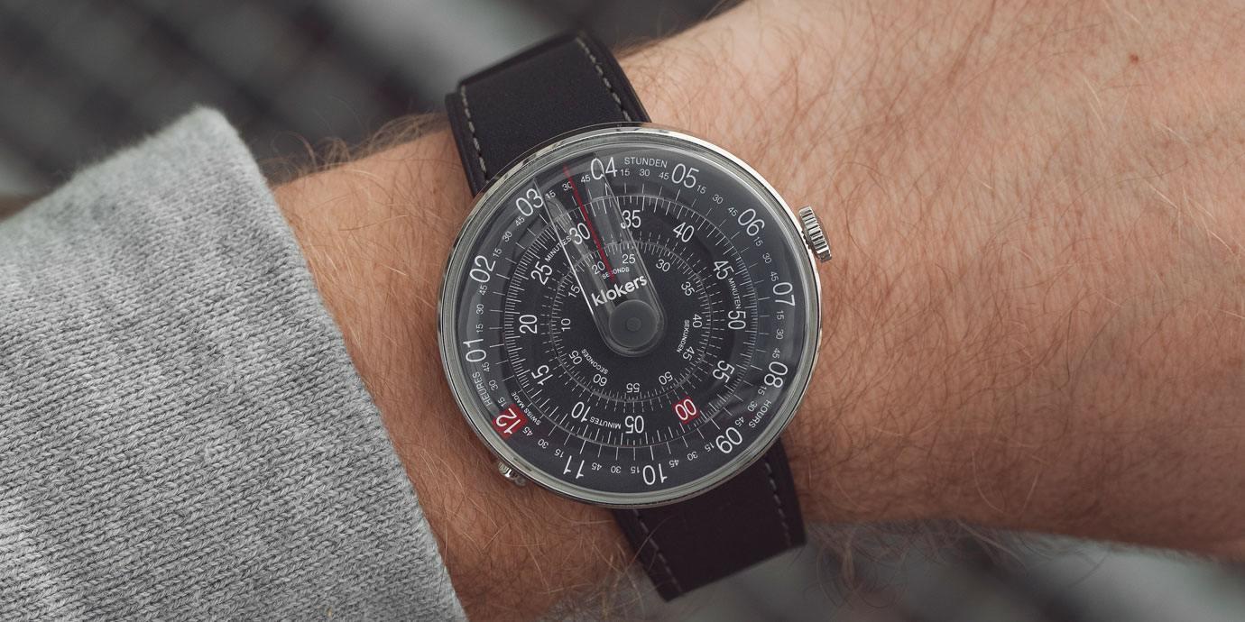 這樣讀時好有趣:klokers Klok-01-D8 深灰色腕錶