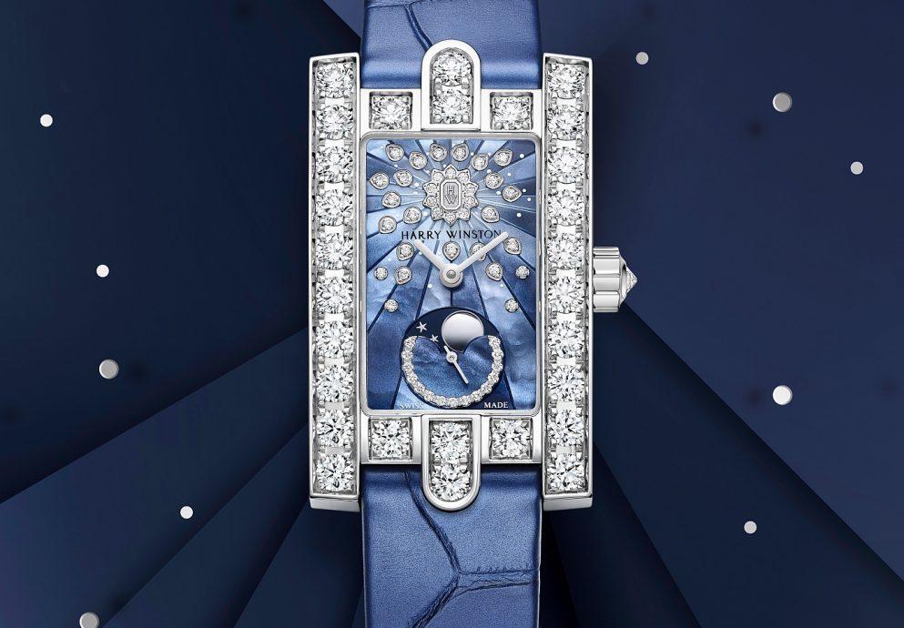 海瑞溫斯頓第五大道 Avenue Classic 系列月相腕錶與Avenue C系列迷你月相腕錶