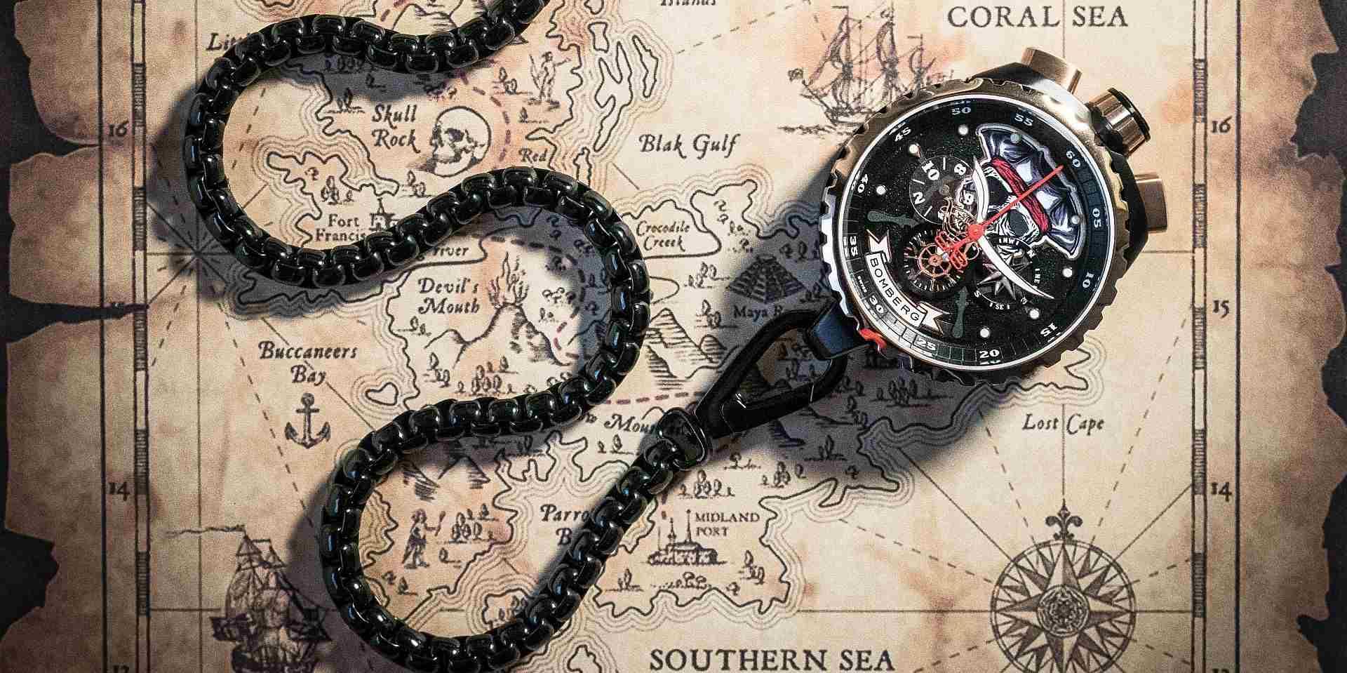 探索無盡海洋,尋找未知的寶藏:Bomberg Bolt-68系列特別版—海盜骷髏船長計時碼錶
