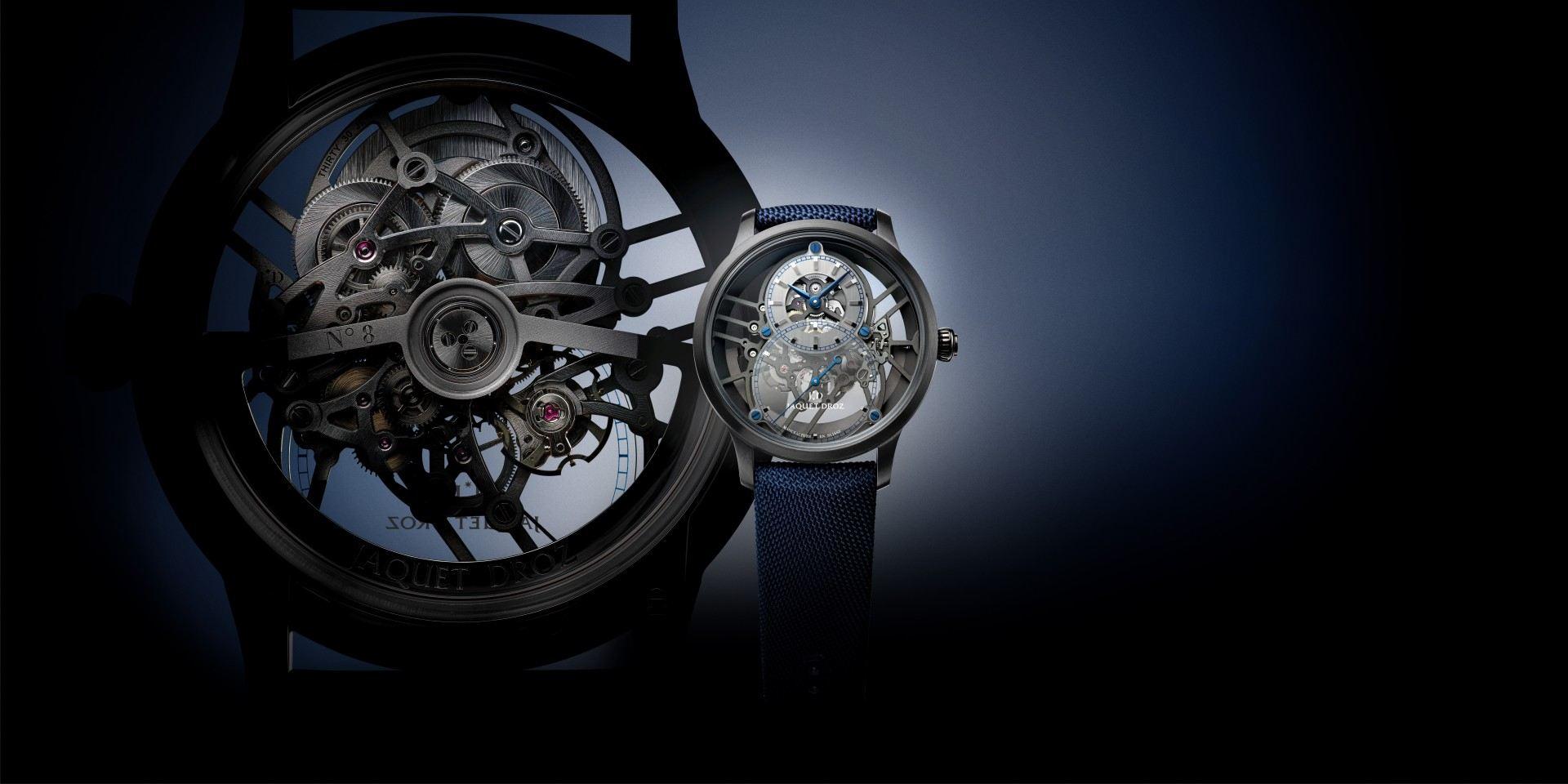 以卓越工藝揮灑時尚魅力:Jaquet Droz 全新Grande Seconde Skelet-One大秒針鏤空陶瓷腕錶