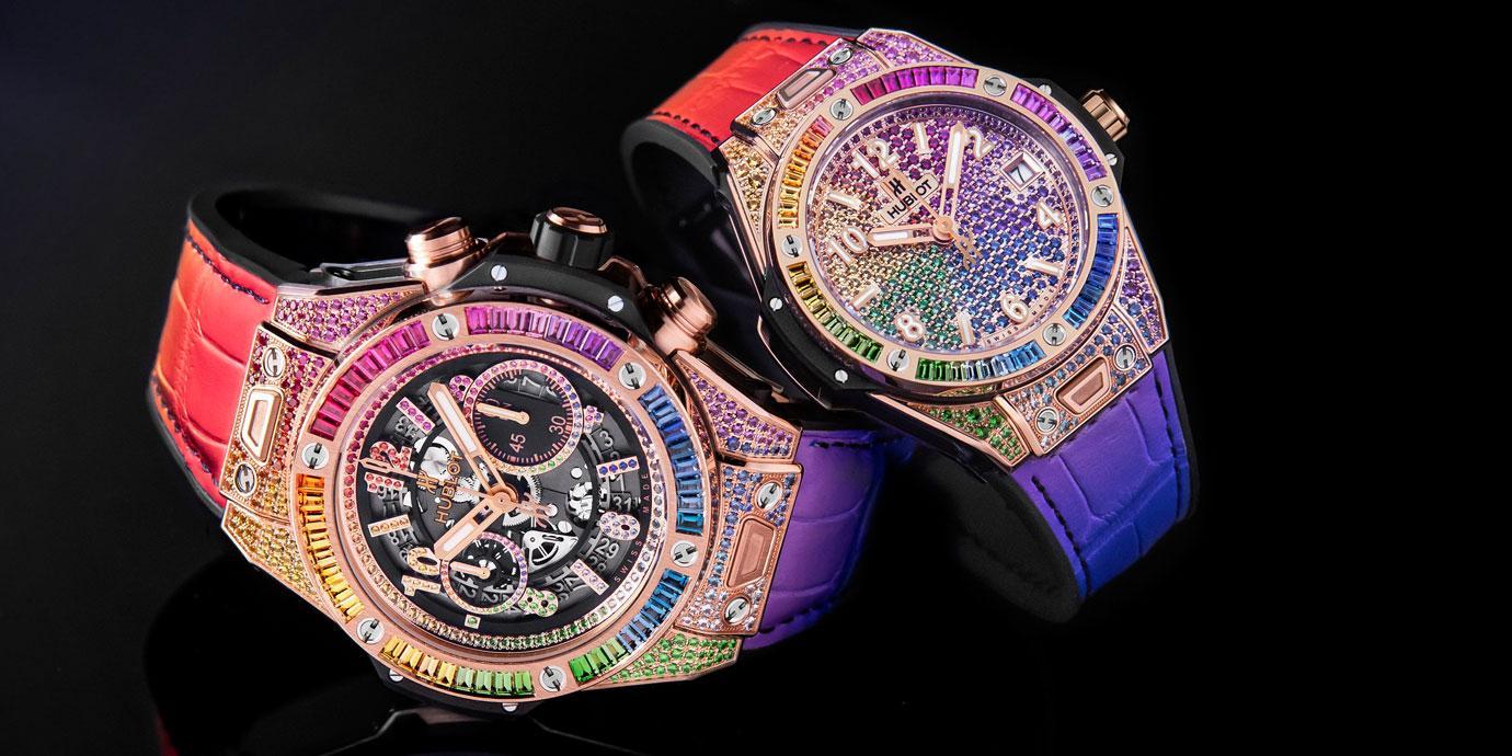 感受鮮豔破表的浪漫:Hublot Big Bang彩虹寶石腕錶