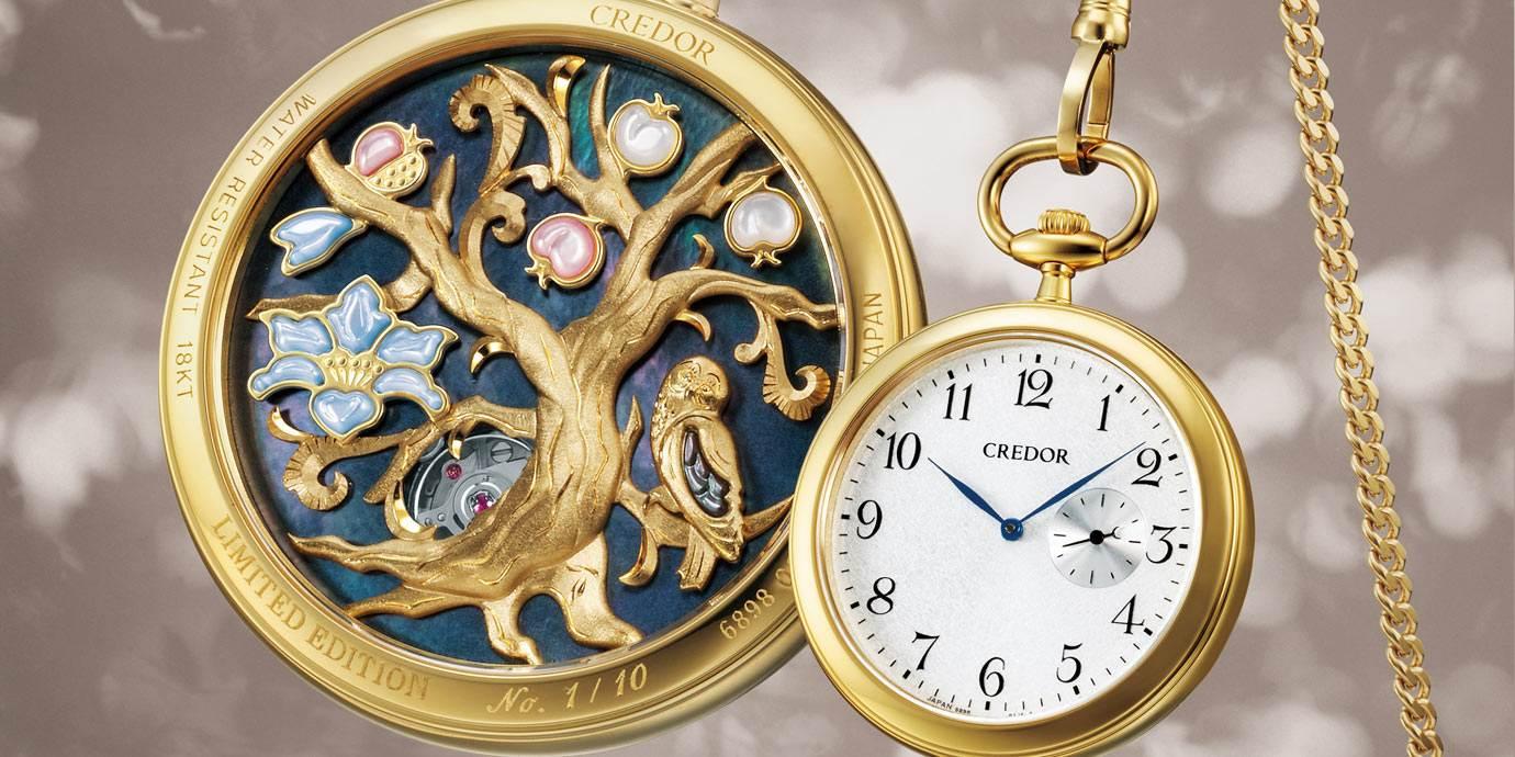 微縮大師手藝:CREDOR 45週年紀念立體雕金懷錶