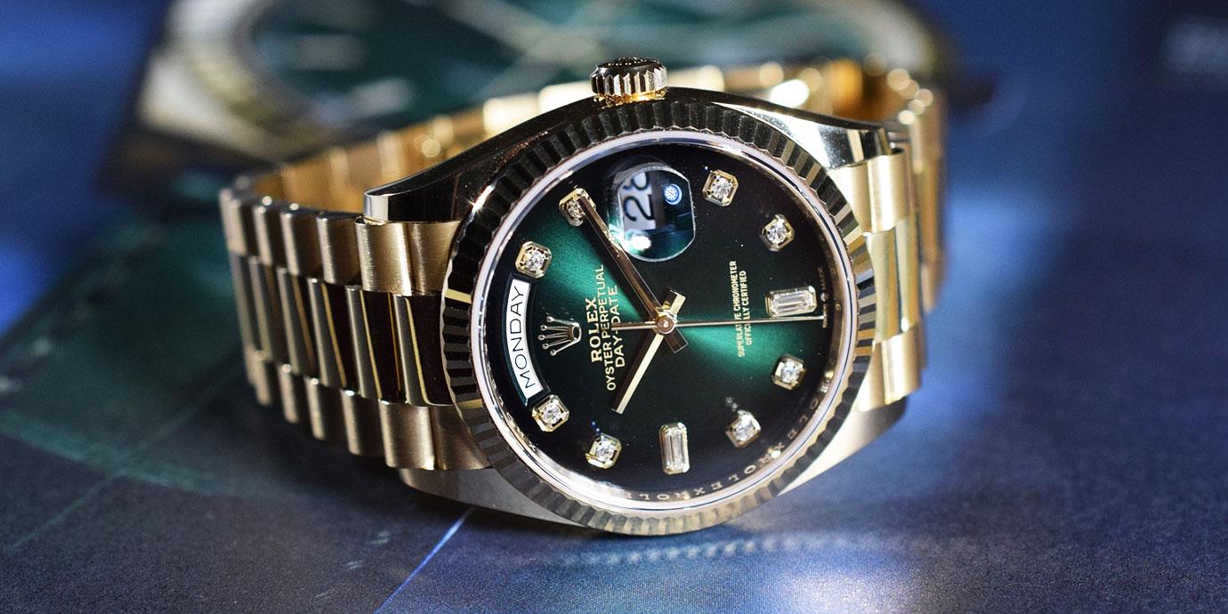 綠面腕錶的誘惑:漸層之美