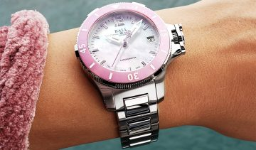 未來感美學時計:BALL Watch Engineer Hydrocarbon Ceramic Midsize粉紅陶瓷女錶