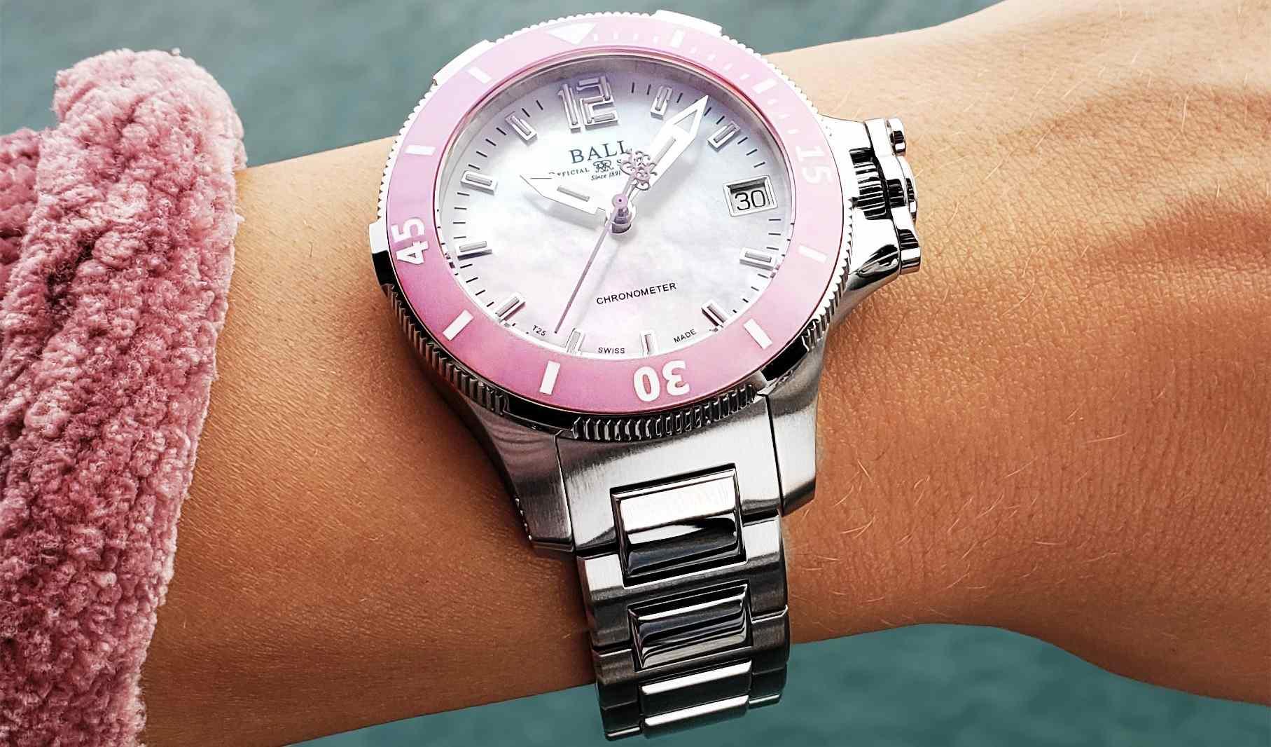 未來感美學時計:BALL Watch Engineer Hydrocarbon Ceramic Midsize粉紅陶瓷女錶