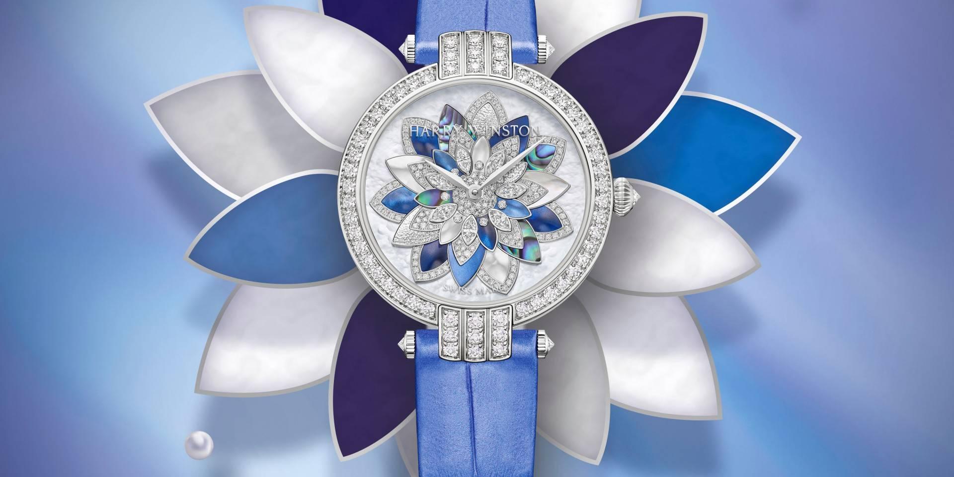 清新脫俗,綻放精華:海瑞溫斯頓Premier卓時系列Lotus 31 毫米自動腕錶