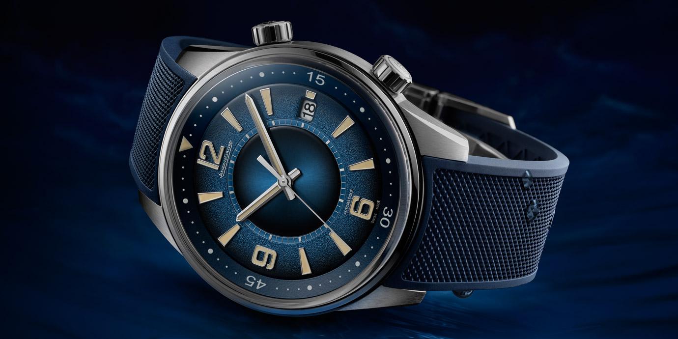 富含層次的湛藍錶盤:積家Polaris Date日曆腕錶
