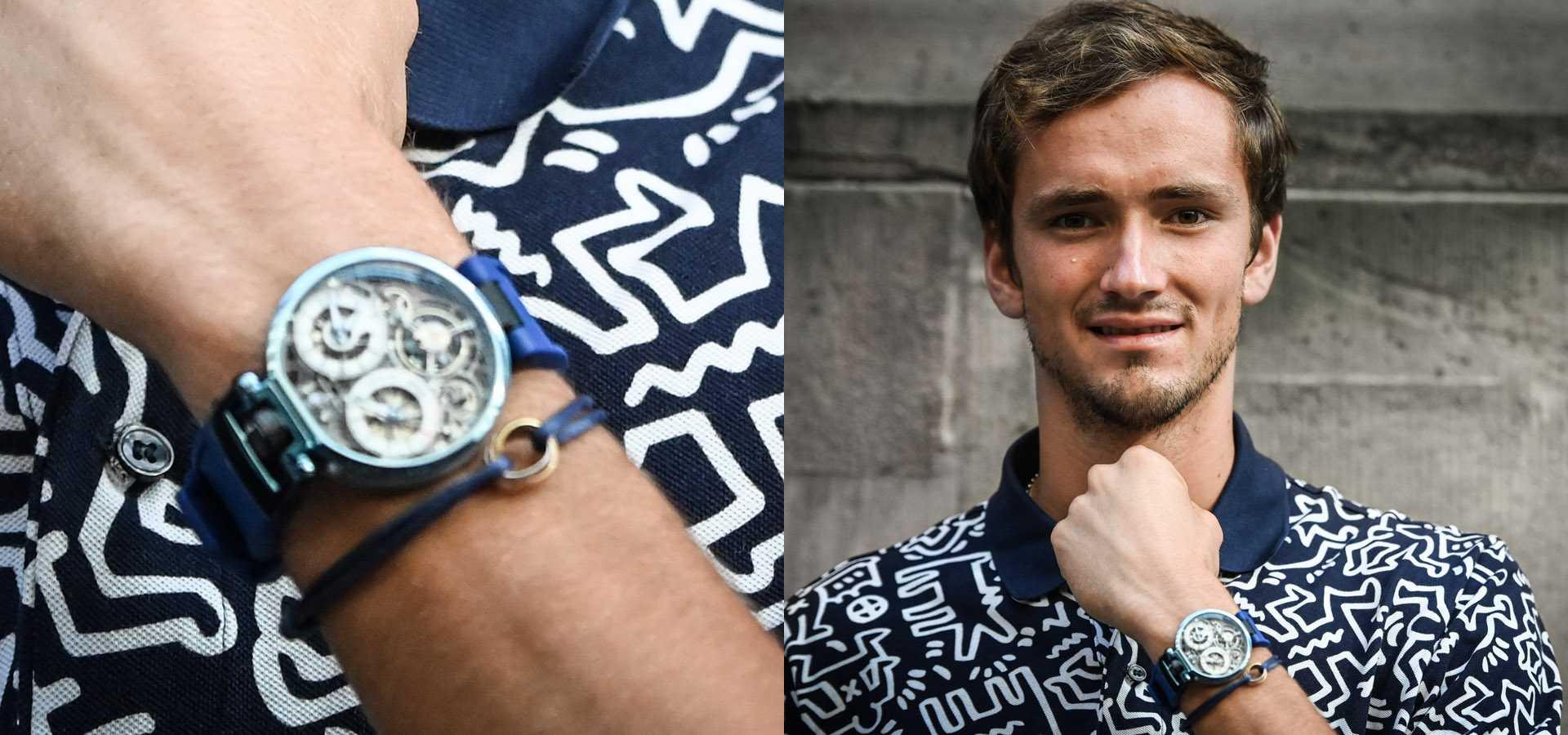 BOVET播威錶與網球明星Daniil Medvedev丹尼爾.梅德韋傑夫建立合作關係,Ottantasei陀飛輪腕錶光彩亮相